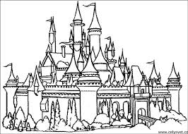 Castle Coloring Pages Printable Tag Free Disney Kids Online