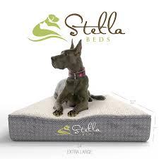 amazon com stella beds elevated memory foam orthopedic dog bed