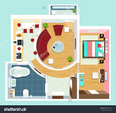 3d Buildings And The Floor Plan Top View Rayvat Engineering House Plans Section Stock Image Royalty Interior Design