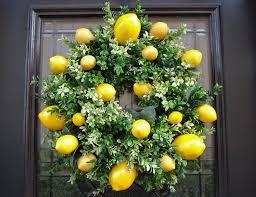 Lemon Wreath Kitchen Decor Boxwood By LuxeWreaths