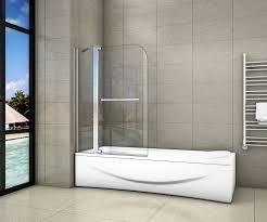 120x140cm faltwand duschwand drehen badewannenaufsatz 8mm