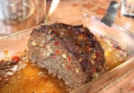 hackbraten mit paprika und käse