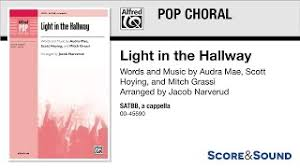 light in the hallway satbb a cappella choral octavo hoying