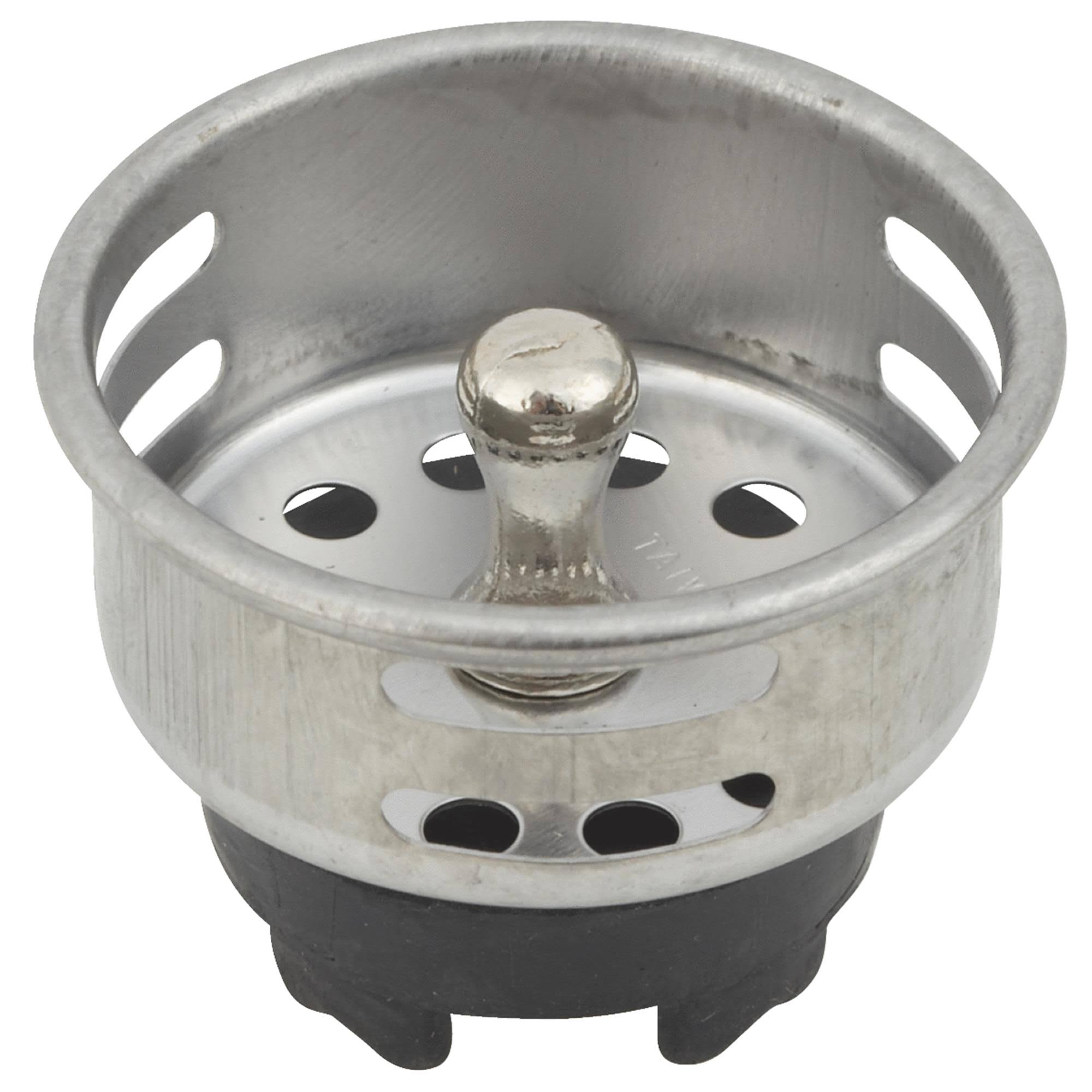 Do it Best Duo Sink Basket Strainer Stopper