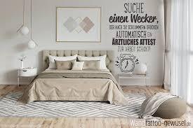 lustiger suche wecker spruch als wandtattoo für schlafzimmer