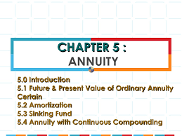 Define Annual Sinking Fund by Business Math Chapter 5