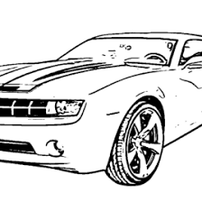 Camaro Coloring Pages Chevy Page Az