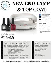 Cnd Shellac Led Lamp 2015 by New Cnd Lamp U0026 Top Coat Europe Cosmetices
