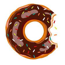 Sweet Bite Donut With Chocolate Glaze Isolated On White Background Vector Illustration