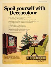 What Kind Of Aspirin For Christmas Tree by 1968 Ad Deccacolour Decca Color Tv Television Christmas Original