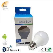 new magic blue 4 5w e27 rgbw led light bulb bluetooth 4 0 smart