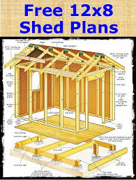 your free shed plans to build a 12x8 shed storage shed plans