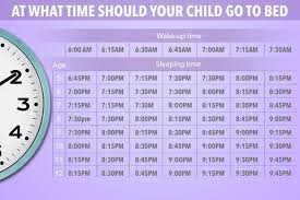 This is the exact time your kids should go to bed how old