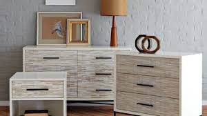 Wood Tiled Nightstand West Elm Intended For Dresser And Night