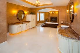 Chandelier Over Bathtub Soaking Tub by 18 Master Bathrooms With Fireplaces Pictures Marble