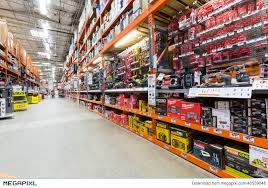 Aisle In A Home Depot Hardware Store Stock Megapixl