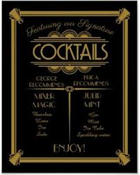 amazing deal on deco cocktail sign signature bar sign poster