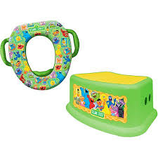 sesame street framed friends soft potty seat and step stool