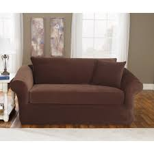 Sure Fit Stretch T Cushion Sofa Slipcover by Sure Fit Stretch Pique Three Piece Sofa Slipcover Walmart Com