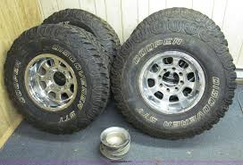 100 Cheap Mud Tires For Trucks 4 Aluminum Wheels And Mud Tires Item E2002 SOLD Wedne