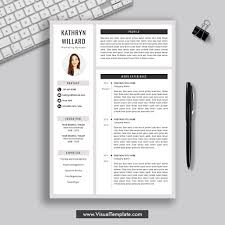 2019-2020 Pre-Formatted Resume Template With Resume Icons, Fonts And  Editing Guide. Unlimited Digital Instant Download Resume Template. Fully ...