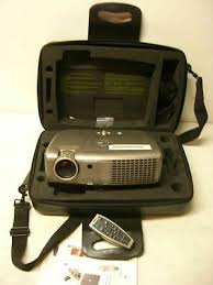 dell 2300mp dlp projector w remote and guide needs bulb