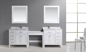 two 36 london single sink vanity set in white with drawers on the