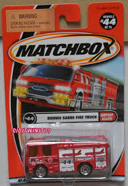 100 Matchbox Fire Trucks MATCHBOX 2001 DENNIS SABRE FIRE TRUCK AIRPORT ALARM 44 E 0014391