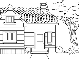 Detail Of Printable House Coloring Pages