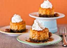 Pumpkin Chiffon Pie With Cool Whip by Mini Pumpkin Cheesecakes With Gingersnap Crust Love From The Oven