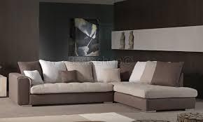 canapé angle canapé d angle droit ou gauche capitonné coloris brun beige et