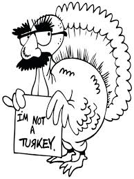 Funny Turkey Coloring Pages Thanksgiving Printable Book Pdf