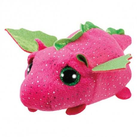 Ty Beanie Babies Teeny TYS Soft Plush Toy - Darby The Pink Dragon