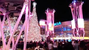Ice Skating LA Live Nokia Plaza Christmas Tree Los Angeles CA Happy January 2014