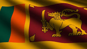 Sri Lanka Close Up Waving Flag