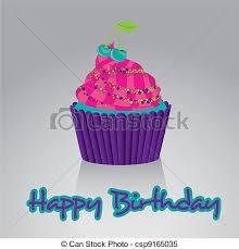 Happy Birthday Cupcake csp