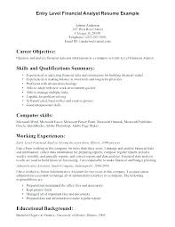 Objective Resumes Examples Job For Resume Work General Entry Level