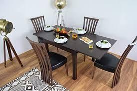 ahoc ausziehbarer esstisch und 4 stühlen bench set massiv