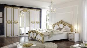 schlafzimmer set 4 tlg weiß lack gold barock stil