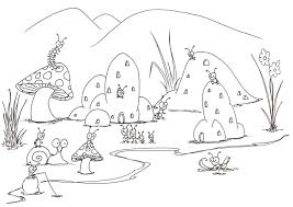 Coloring Pages A Small Bug Town