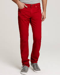 what to wear with mens red jeans to have a smart casual look