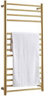 whzwh elektrischer handtuchhalter gold handtuchtrockner heizkörper bad mittelanschluss handtuchwärmer badheizkörper 110x52x12cm trocknung bei