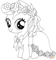 My Little Ponies Coloring Pages Pony Free Pictures
