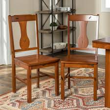 Walker Edison Furniture Company Rustic Wood Dining Chairs, Set Of 2 ... Coaster Jamestown Rustic Live Edge Ding Table Muses 5piece Round Set With Slipcover Parsons Chairs By Progressive Fniture At Lindys Company Tips To Mix And Match Room Successfully Kitchen Home W 4 Ladder Back Side Universal Belfort Bradleys Etc Utah Mattrses Fine Parkins Parson Chair In Amber Of 2 Burnham Bench Scott Living Value City John Thomas Thomasville Nc Hillsdale 4670dtbwc4 Coleman Golden Brown