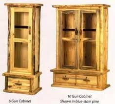 Rustic Log Gun Cabinets