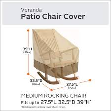 Amazon.com : Classic Accessories Veranda Patio Rocking Chair Cover ... Habe Glider Rocking Nursing Recliner Chair With Ftstool With Amazoncom Lb Intertional Durable Outdoor Patio Vinyl 3seat Replacement Cushion Set Rocker Grey Color Home Best Rated In Chairs Helpful Customer Reviews Decor Pretty Design Of Wingback Covers For Chic Fniture Extraordinary Cushions Indoor Or Shellyliu 100pcs Universal Stretch Spandex Cover Sophisticated With Marvellous Spectacular T Slipcovers Interesting Barnett Products Checkers Davinci Maya Upholstered Swivel And Ottoman