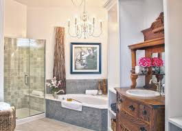 Chandelier Over Bathroom Vanity by 40 Luxurious Master Bathrooms Most With Incredible Bathtubs