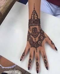 Easy Henna Mehndi Tattoo Design On Hand