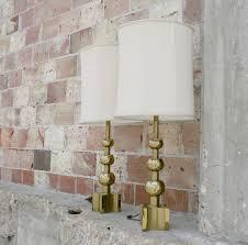 Stiffel Lamp Shades Glass by Sold U2013 Gold Stiffel Lamps 1970 U0027s