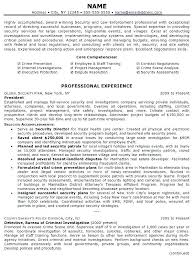 Law Enforcement Resume Template Sample Professional Page 1 Promotion Examples